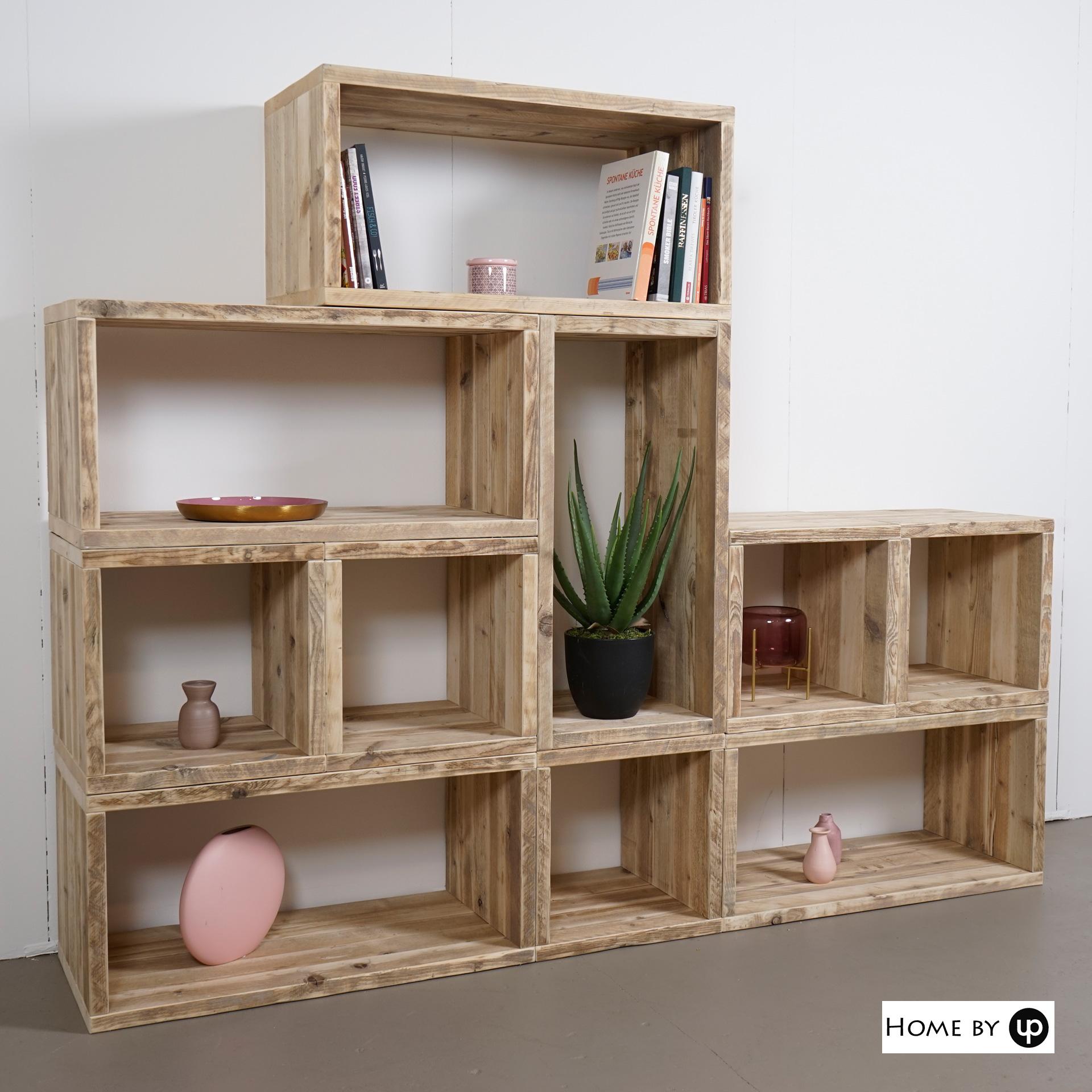 Cube Set  10-teilig, Bauholz Design