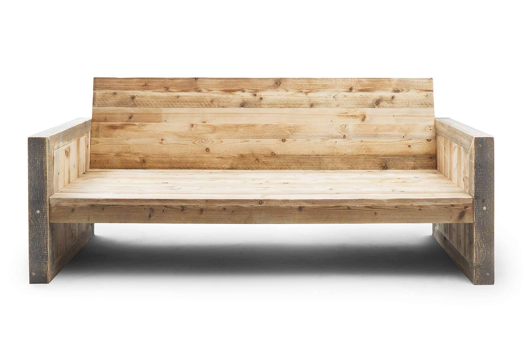 Couch Tamina, 3 Sitzer, Bauholz unbehandelt