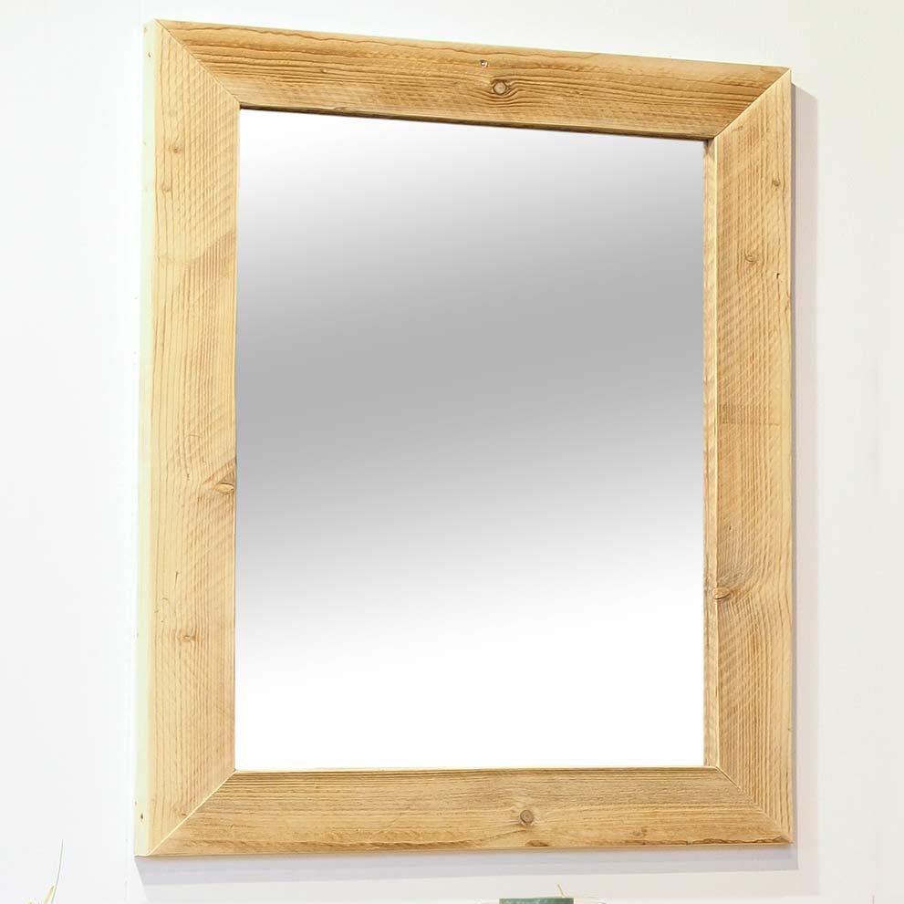 Spiegel mit Bauholzrahmen  65 cm x 85 cm